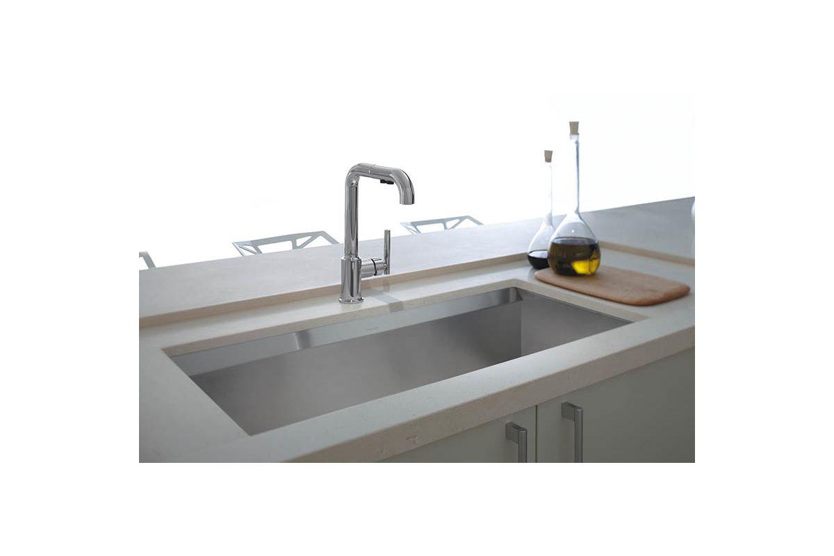 Kohler Stainless Steel Kitchen Faucets : Kohler K-3673-NA Stainless Steel Kitchen Sink - Build.com