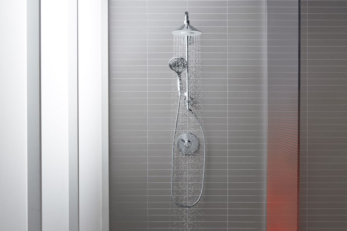 Kohler Shower : Kohler Moxie HydroRail Custom Shower System CP Polished Chrome Moxie ...