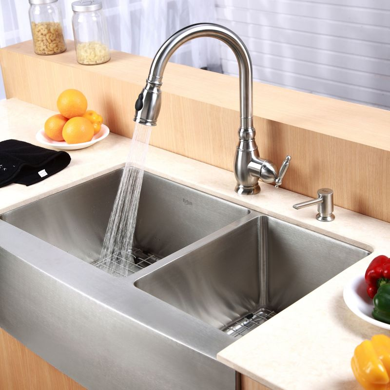 Sink Kraus : Save $130 when you purchase this kitchen combo.
