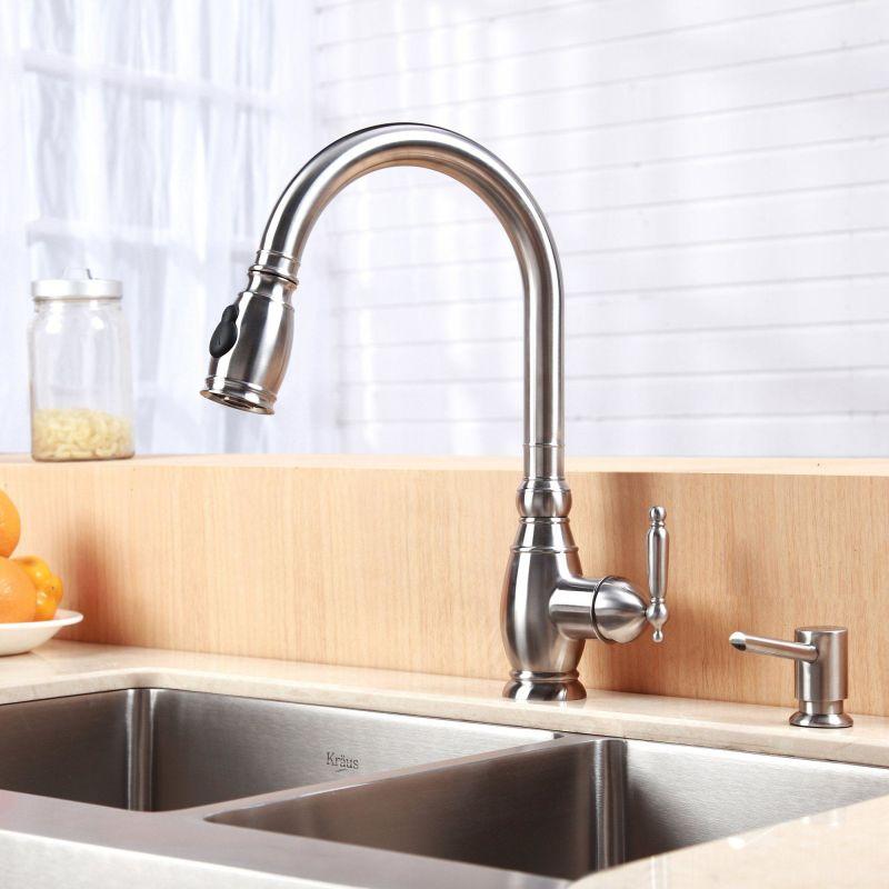 Kraus Khf203 33 Kpf2170 Sd20 Farmhouse Double Bowl Kitchen: Kraus KHF203-33-KPF2150-SD20 Sink And Faucet Combo