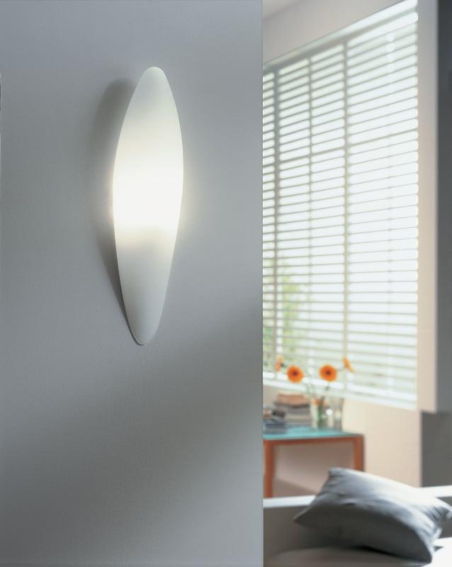lbl lighting bora wall opal 100w wall light