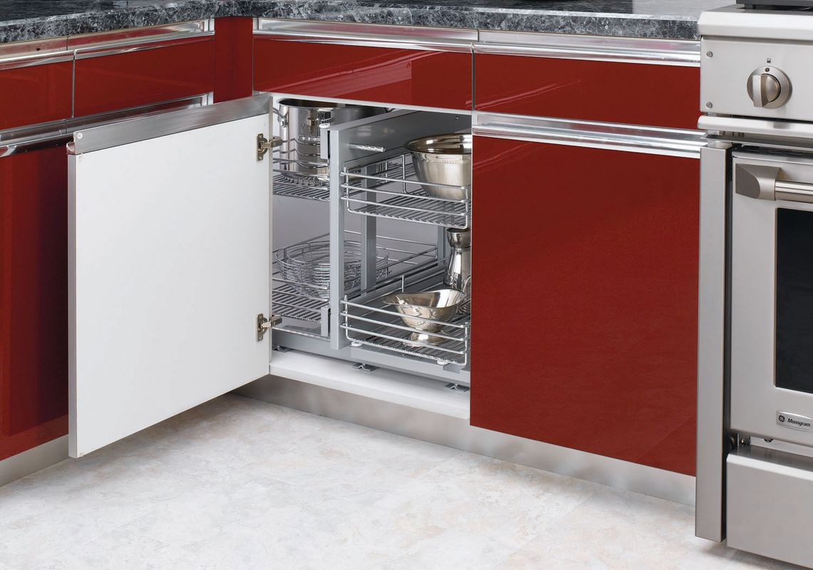 Rev a shelf 5psp 15 cr chrome for Blind corner kitchen cabinets
