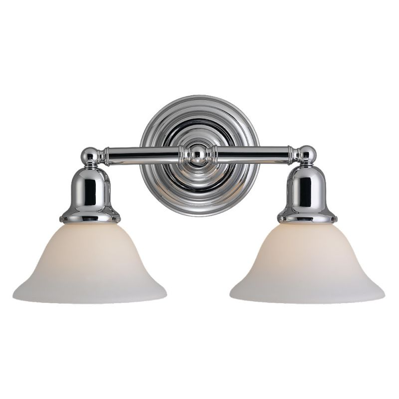 Two Light Chrome Bathroom Lights