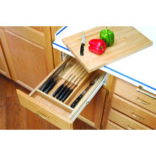 Drawer Cutlery with Cutting Board Organizers