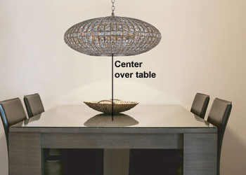 Single Pendant Light Over Table