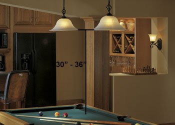 Pendant Lighting Over Game Table