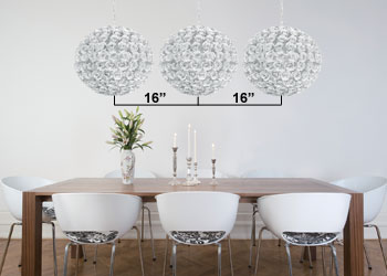 Multiple Pendant Lights Over Table