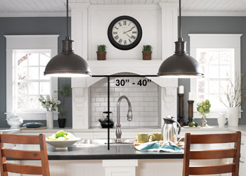 Pendant Lighting Over Kitchen Counter