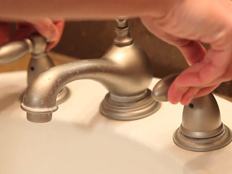 How to Install a Bathroom Faucet: Step 1