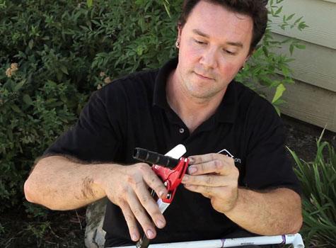 how to cut sprinkler riser