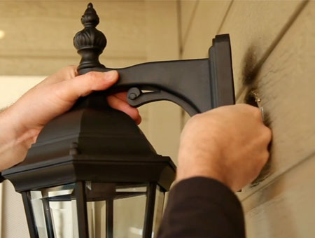 How Are Wall Sconces Installed : How To Install an Outdoor Wall Sconce
