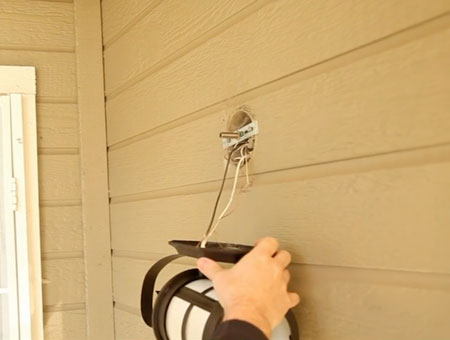 Wall Sconces How To Install : How To Install an Outdoor Wall Sconce