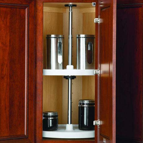 corner cabinet organization tips and ideas