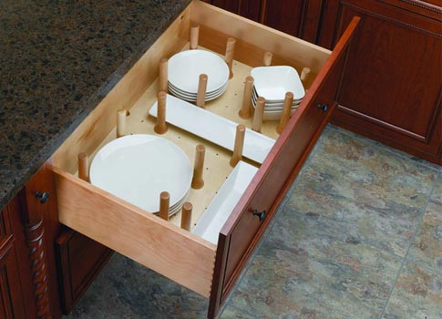 Kitchen Drawer Peg Board Organizer