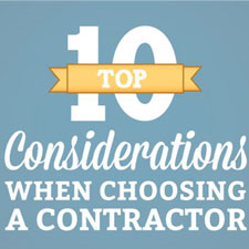 [INFOGRAPHIC] Choosing a Contractor
