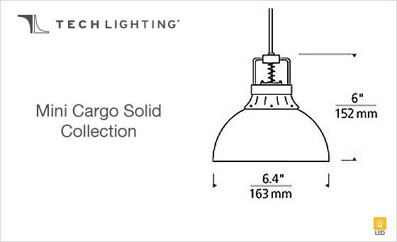 Tech Lighting Mini Cargo Solid Pendant : Tech lighting mpmcrgsz led antique bronze mini cargo