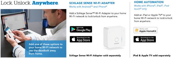 schlage sense cen wifi adapter banner - Wifi Deadbolt