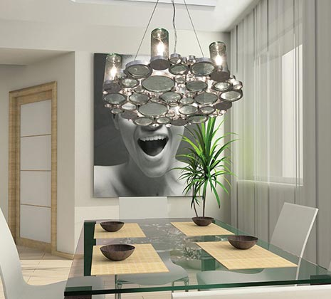Chandelier over a Table