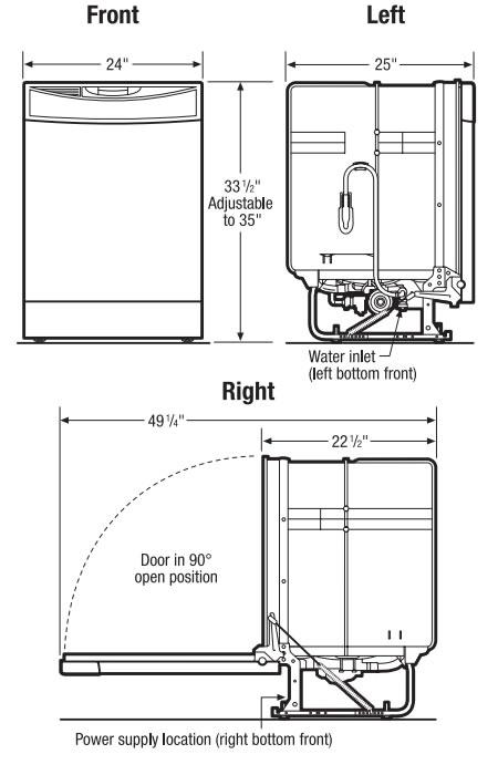 frigidaire dishwasher dishwashers ffbd2408n rh compactappliance com frigidaire gallery dishwasher service manual frigidaire gallery dishwasher owners manual