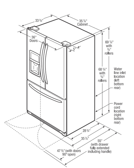 Frigidaire French Door Refrigerators Fghb2866
