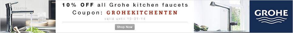 10% off All Grohe Kitchen Faucets, use Coupon GROHEKITCHENTEN